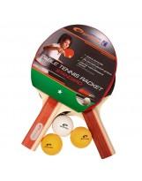 Spokey SET STANDARD - 2 Tischtennisschläger und 3 Tischtennisbälle