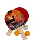 Spokey SET JOY - 2 Tischtennisschläger und 3 Tischtennisbälle