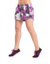Nessi Damen Shorts DSL kurze Hose Laufhose Fitnesshose Atmungsaktiv Violet Spots