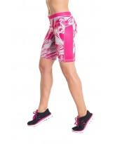 Nessi Damen kurze Leggings OSKK Laufhose Fitnesshose Short Fuchsia Sounds