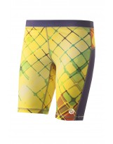 Nessi Damen kurze Leggings OSKK Laufhose Fitnesshose Short Yellow Dreams