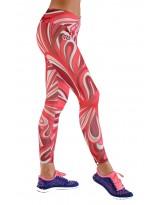 Nessi Damen lange Leggings OSLK Laufhose Fitnesshose Jogginghose Rotekreise