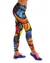 Nessi Damen lange Leggings OSLK Laufhose Fitnesshose Jogginghose Mosaikglas