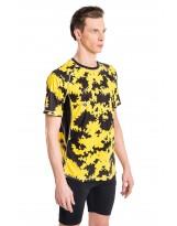 Nessi Herren T-Shirt MK Laufshirt Fitnesshirt Atmungsaktiv Yellow Ink