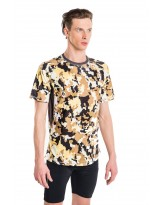 Nessi Herren T-Shirt MK Laufshirt Fitnesshirt Atmungsaktiv Brown Puzzles