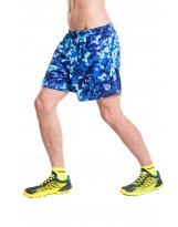 Nessi Herren kurze Sporthose MSK Laufhose Fitnesshose Shorts Blue Splash