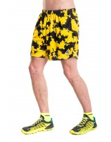 Nessi Herren kurze Sporthose MSK Laufhose Fitnesshose Shorts Yellow Ink