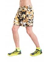 Nessi Herren kurze Sporthose MSK Laufhose Fitnesshose Shorts Brown Puzzles