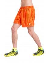 Nessi Herren kurze Sporthose MSK Laufhose Fitnesshose Shorts Orange Fire