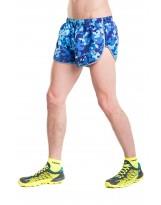Nessi Herren Shorts MSL Laufhose Fitnesshose Sporthose Blue Splash