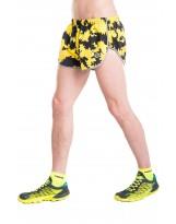 Nessi Herren Shorts MSL Laufhose Fitnesshose Sporthose Yellow Ink