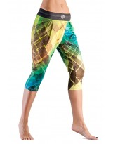 Nessi Damen 3/4 Pumps OPTK Legging Laufhose Fitnesshose Atmungsaktiv