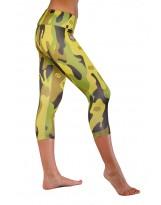 Nessi Damen 3/4 Leggings OSTK Laufhose Fitnesshose Atmungsaktiv Flecktarn