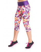 Nessi Damen 3/4 Leggings OSTK Laufhose Fitnesshose Atmungsaktiv Violetgarden