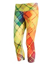 Nessi Damen 3/4 Leggings OSTK Laufhose Fitnesshose Atmungsaktiv Colored Net