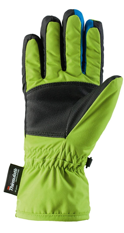 72055a09255a79 6 schwarz-blau Viking Samurai Teilleder Kinder Skihandschuhe Atmungsaktiv  Warm Ski Handschuhe
