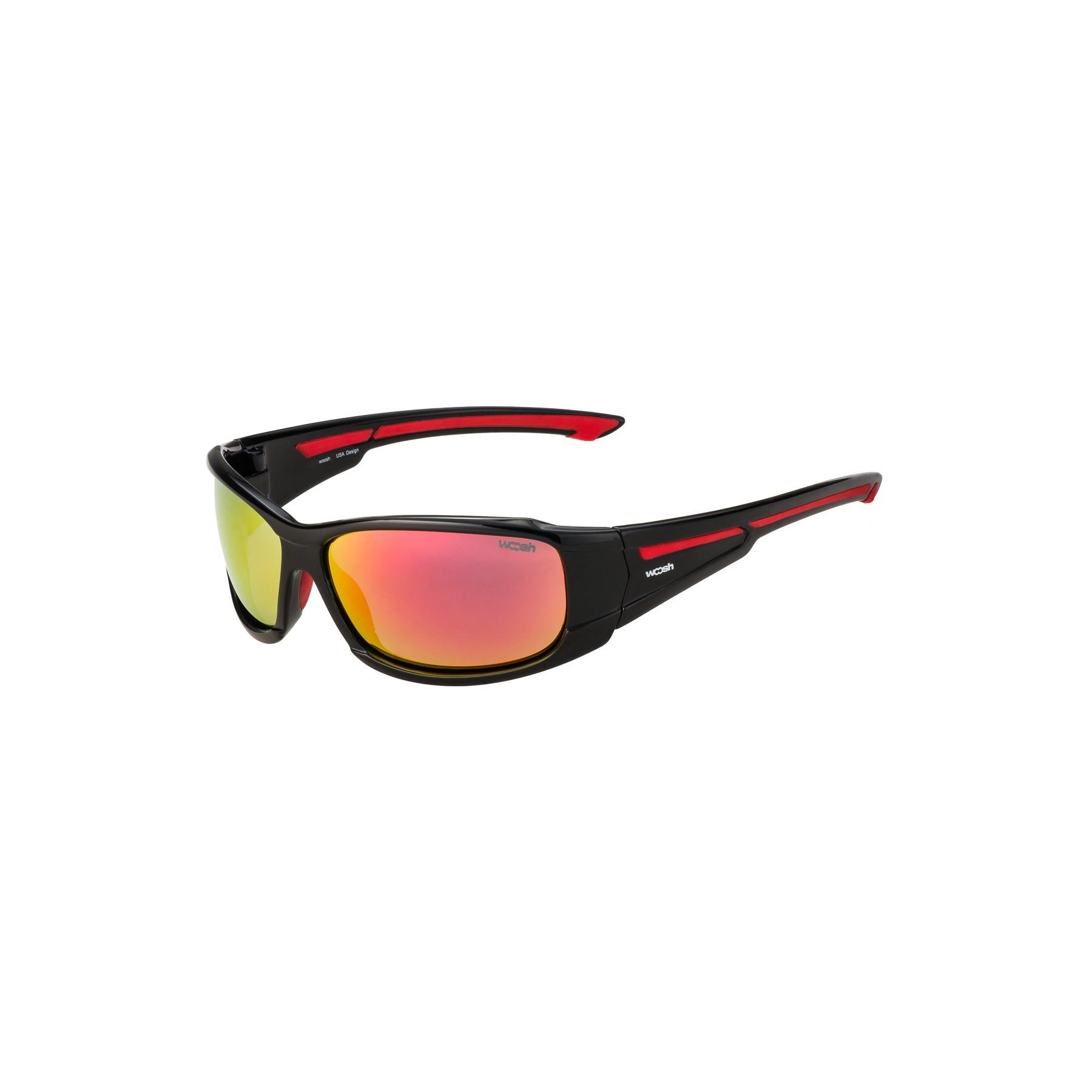 Woosh Sportbrille Sonnenbrille W1022 Radbrille Laufbrille - schwarz-gelb RnknL