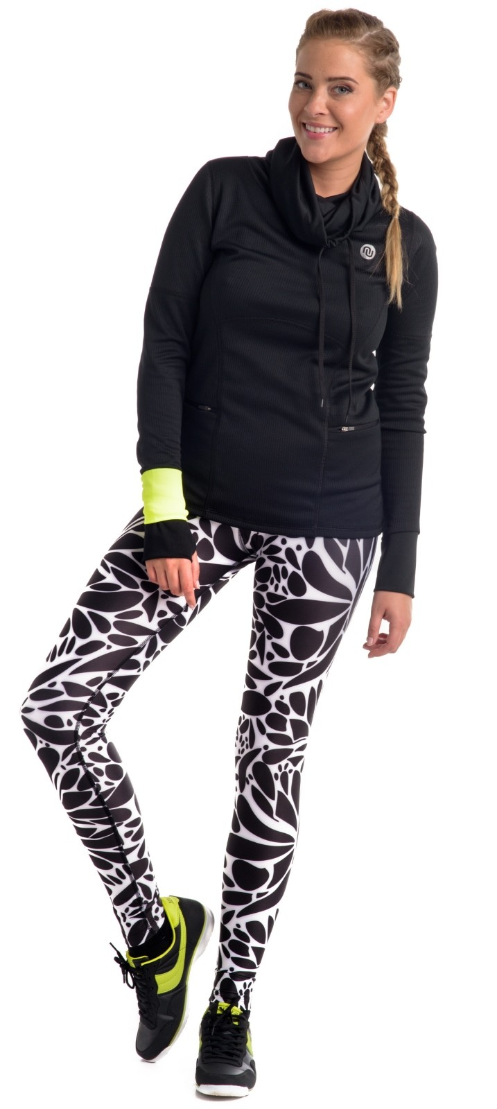 nessi damen sport leggings oslk laufhose fitnesshose. Black Bedroom Furniture Sets. Home Design Ideas