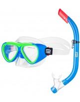Schnorchelset CATFISCH Schnorchelmaske Taucherbrille Anti-Fog aus Gehärtetem Glas und Dry Top Schnorchel Kinder und Jugendliche