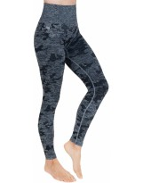 Damen Sport Leggings High Waist Camo DLL5 Laufhose Fitnesshose Sporthose  Atmungsaktiv